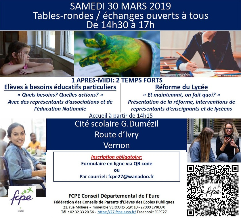 Tables-rondes 30 Mars 2019